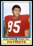 1974 Topps #171  Julius Adams  Front Thumbnail