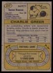 1974 Topps #217  Charlie Greer  Back Thumbnail