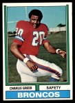 1974 Topps #217  Charlie Greer  Front Thumbnail