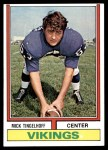 1974 Topps #214  Mick Tingelhoff  Front Thumbnail