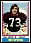 1974 Topps #263  Doug Dieken  Front Thumbnail