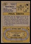 1974 Topps #135   -  Paul Smith  All-Pro Back Thumbnail