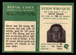 1966 Philadelphia #174  Bernie Casey  Back Thumbnail