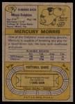 1974 Topps #170  Mercury Morris  Back Thumbnail