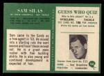1966 Philadelphia #166  Sam Silas  Back Thumbnail