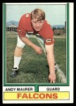 1974 Topps #212  Andy Maurer  Front Thumbnail