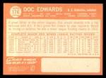 1964 Topps #174  Doc Edwards  Back Thumbnail