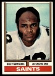1974 Topps #255  Billy Newsome  Front Thumbnail