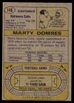 1974 Topps #146  Marty Domres  Back Thumbnail