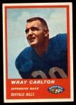 1963 Fleer #25  Wray Carlton  Front Thumbnail