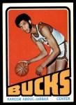 1972 Topps #100  Kareem Abdul-Jabbar  Front Thumbnail