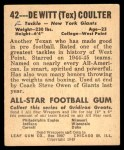 1948 Leaf #42  Tex Coulter  Back Thumbnail