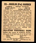 1948 Leaf #33  Pat Harder  Back Thumbnail