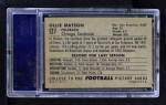 1952 Bowman Large #127  Ollie Matson  Back Thumbnail