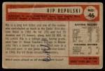 1954 Bowman #46  Rip Repulski  Back Thumbnail