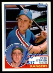 1983 Topps Traded #81 T Pete O'Brien  Front Thumbnail