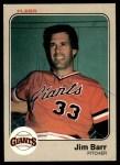 1983 Fleer #252  Jim Barr  Front Thumbnail