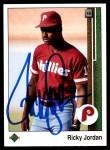1989 Upper Deck #35  Ricky Jordan  Front Thumbnail