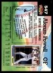 1992 Topps Stadium Club #547  Alonzo Powell  Back Thumbnail