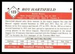 1979 TCMA The 1950's #123  Roy Hartsfield  Back Thumbnail