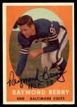 1958 Topps #120  Raymond Berry  Front Thumbnail
