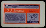 1970 Topps Super #24  O.J. Simpson  Back Thumbnail