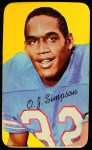 1970 Topps Super #24  O.J. Simpson  Front Thumbnail