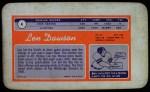 1970 Topps Super #4  Len Dawson     Back Thumbnail