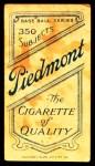 1909 T206  Johnny Kling  Back Thumbnail