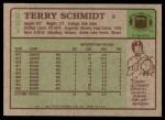 1984 Topps #231  Terry Schmidt  Back Thumbnail