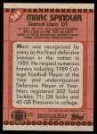 1990 Topps #364  Mark Spindler  Back Thumbnail