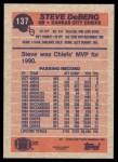 1991 Topps #137  Steve DeBerg  Back Thumbnail