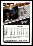 1993 Topps #443  Jeff Jaeger  Back Thumbnail