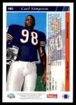 1993 Upper Deck #480  Carl Simpson  Back Thumbnail