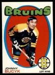 1971 Topps #35  Johnny Bucyk  Front Thumbnail