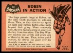 1966 Topps Batman Black Bat #18   Robin in Action Back Thumbnail