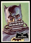 1966 Topps Batman Black Bat #43   The Bat-Gasmask Front Thumbnail