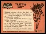 1966 Topps Batman Black Bat #28   Let's Go Back Thumbnail