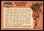 1966 Topps Batman Black Bat #44   Flying Fists Back Thumbnail