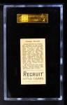 1912 T207  George Stovall    Back Thumbnail