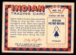 1959 Fleer Indian #22   Girl doing dishes Back Thumbnail