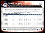 2016 Topps #466  Marco Estrada  Back Thumbnail