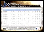 2016 Topps #501  Alex Rios  Back Thumbnail