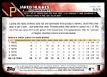 2016 Topps #665 A Jared Hughes  Back Thumbnail