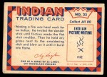 1959 Fleer Indian #23   -  Indian Making Fire Indian Making Fire Back Thumbnail