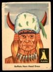 1959 Fleer Indian #19   Buffalo Horn Head Dress Front Thumbnail