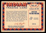 1959 Fleer Indian #65   Indian dressed for ceremony Back Thumbnail