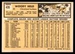 1963 Topps #435  Woodie Held  Back Thumbnail