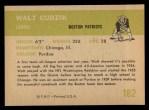 1961 Fleer #182  Walt Cudzik  Back Thumbnail