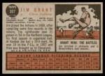 1962 Topps #307  Mudcat Grant  Back Thumbnail